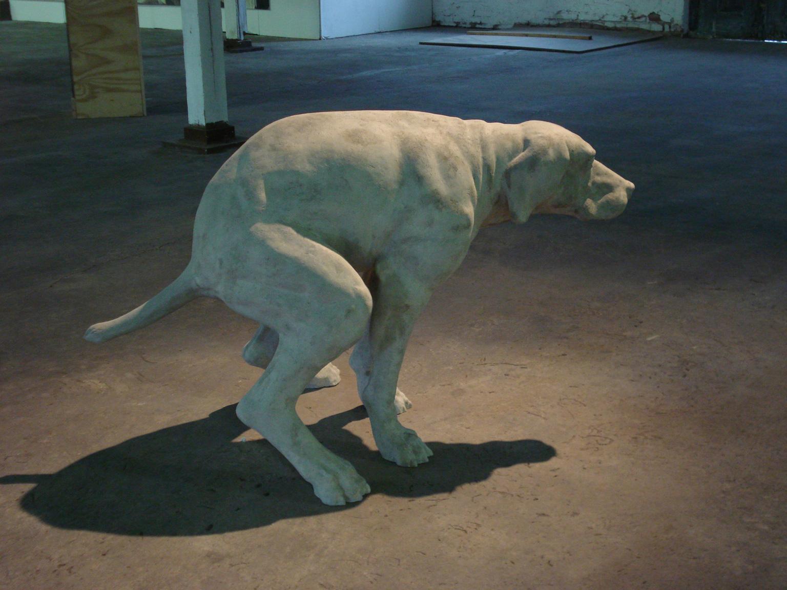 sculpture, dog, static, urban, fine art