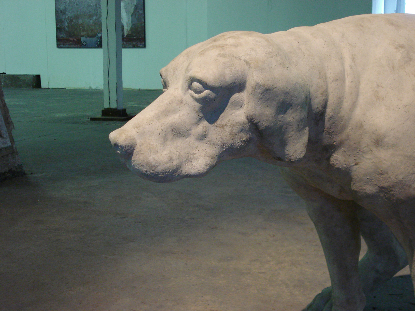 dog, urban, concrete, sculpture, fine art