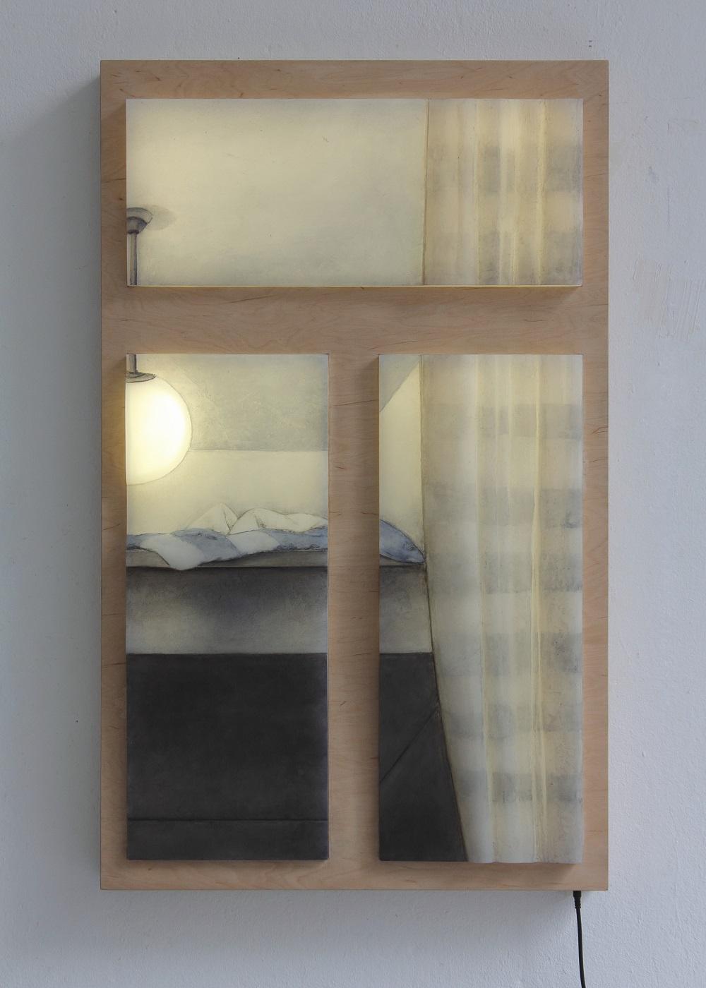 painting, light, object art, contemporary art, window